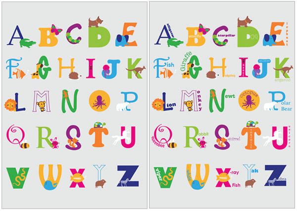 image regarding Free Printable Classroom Posters identify Early Discovering Elements Animal Alphabet Posters Absolutely free
