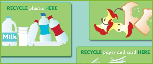 Recycling Bin Posters