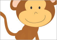 5 Little Monkeys – Visual Aids / Stick Puppets