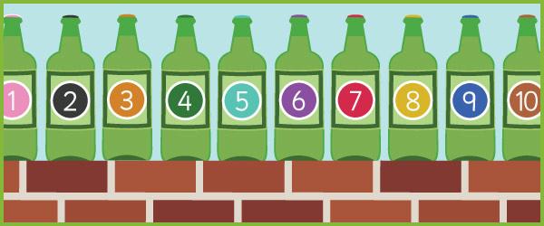 10 green bottles number rhyme