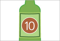 10 Green Bottles Visual Aids / Stick Puppets