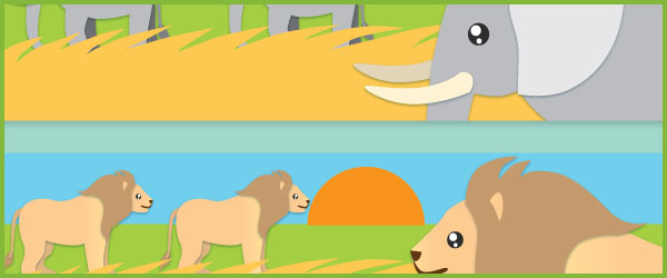 Safari Table Signs