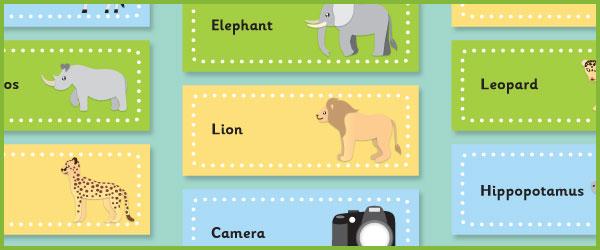 Editable Safari Labels