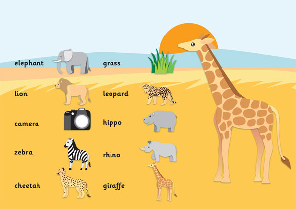 Safari Word Mat Free Early Years Amp Primary Teaching