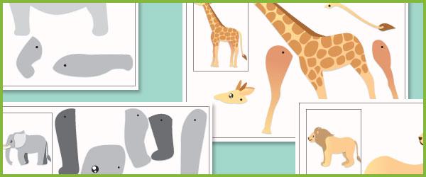 Safari Split Pin Animals