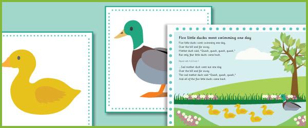 Five Little Ducks Number Rhyme