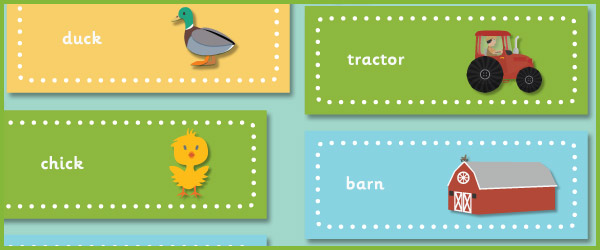 Farm Themed Topic Words / Labels