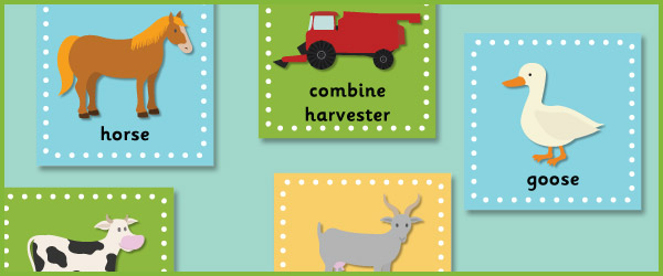 Farm Themed 15cm Topic Cards