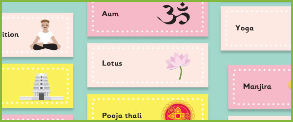 Hinduism Topic Word Cards