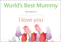 Mother's Day Certificates