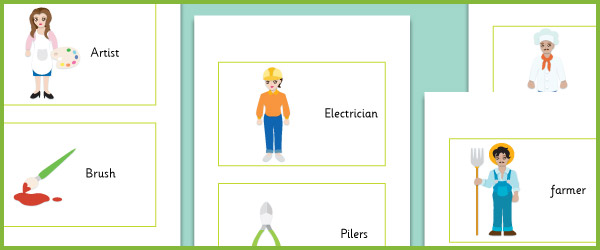 Workers and their Tools Flash Cards