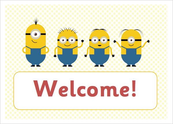 Editable welcome poster minions free early years primary about this primary resource stopboris Choice Image