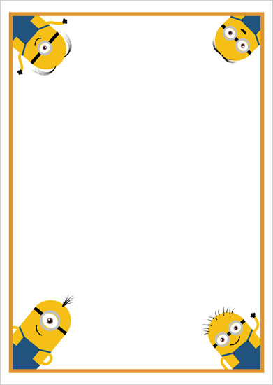 Minion Notepaper | Free Early Years & Primary Teaching ...