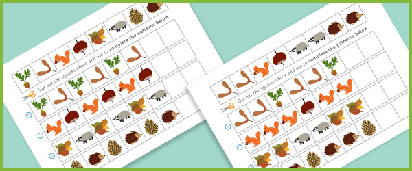 Complete The Pattern Worksheets Autumn Free Early