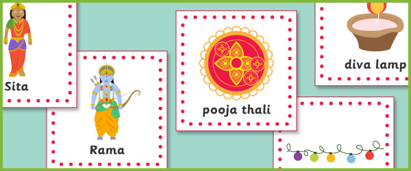 Diwali 15cm flashcards diwali teaching resources free early years diwali cards m4hsunfo