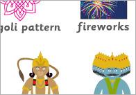 Diwali word mat A4 Diwali Word Mat