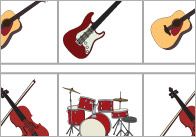 Complete The Pattern Worksheets – Musical Instruments