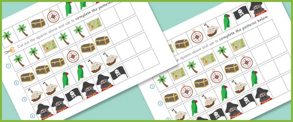 Complete The Pattern Worksheets – Pirates | Free Early Years ...