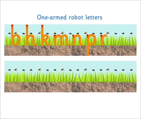 One Armed Robot Letter Formation Free Early Years