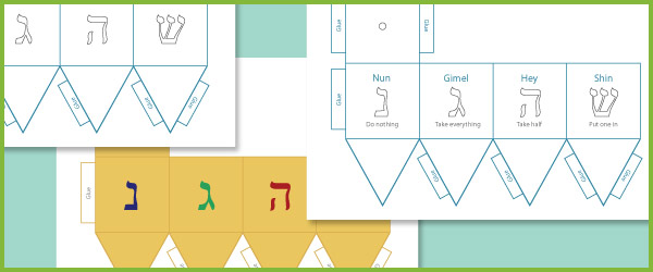 dreidel template hanukkah resources free early years