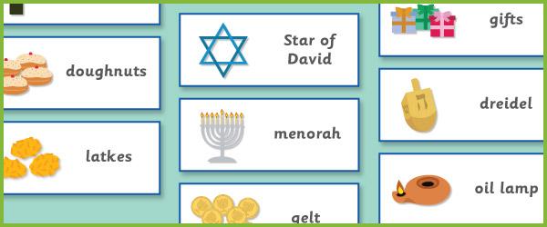 Hanukkah Topic Cards