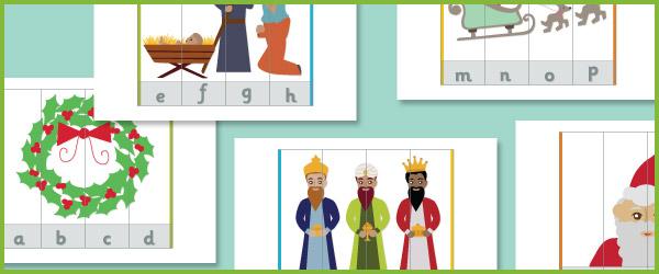 Christmas Alphabet Puzzle