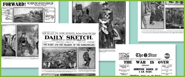 World War I Historic Newspaper Reports