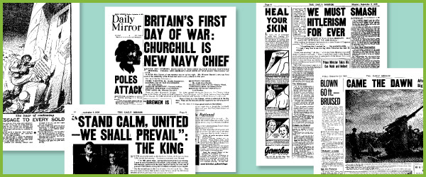 World War II Historic Newspaper Reports