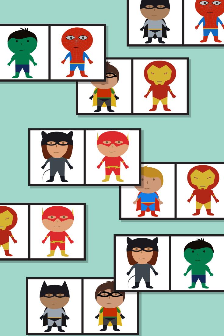 Superhero Dominoes Game