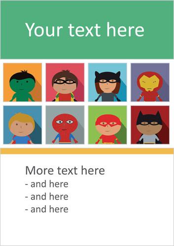 Superhero Editable Poster