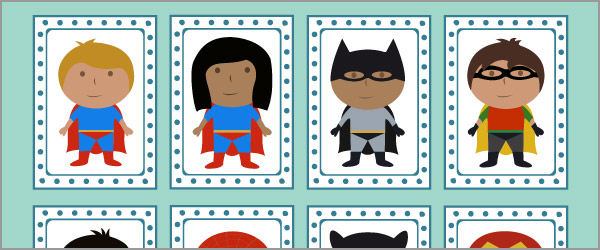 Superhero Snap Cards / Matching Pairs