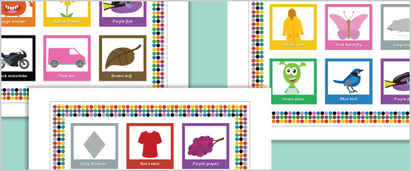 Colour Matching Bingo Game