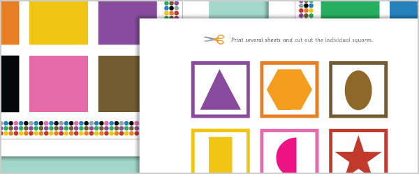 2D Shapes Colour Matching Game