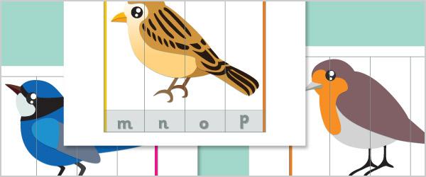 Bird Alphabet Puzzles