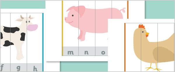 Farm Animal Alphabet Puzzles (Uppercase & lowercase ...