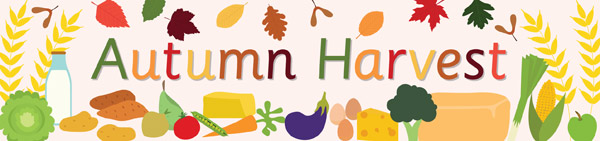 Autumn Harvest Display Poster on Emotions Dice Editable Text