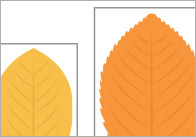 Autumn Leaves Cut-Outs for Size Ordering