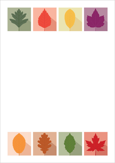 Autumn Leaves A4 Notepaper