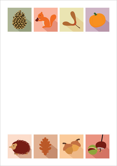 Autumn themed notepaper