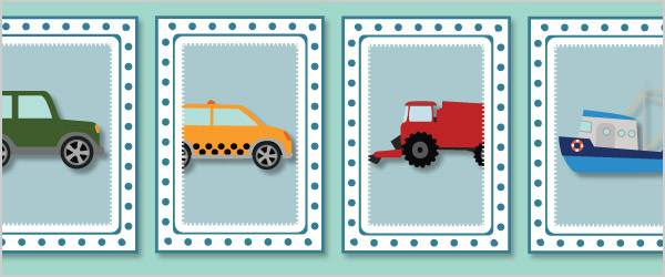 Vehicle Snap Cards / Matching Pairs