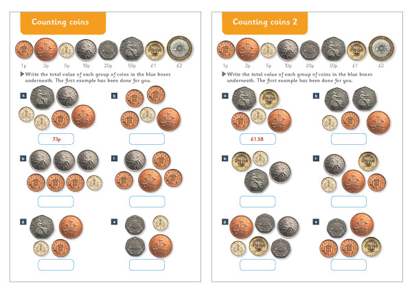 Counting Coins Maths Worksheets Free Early Years Primary
