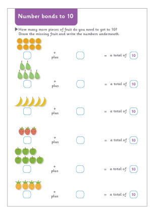 math worksheet : number bonds to 10 maths worksheet  free early years  primary  : Early Maths Worksheets