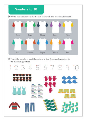 Early Learning Resources Numbers to 10 Maths Worksheet
