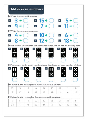 Odd and Even Numbers Maths Worksheet | Free Early Years & Primary ...