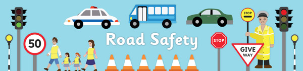 the important steps to take for practicing trafic safety on the road