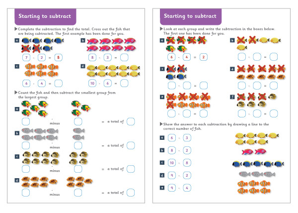 Starting to Subtract Maths Worksheets – Early Years Maths Worksheets