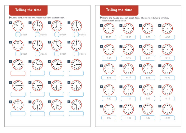 Telling the Time Maths Worksheets – Free Maths Worksheets Ks1