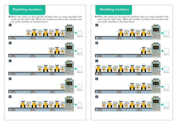 'Using Doubles' Worksheets