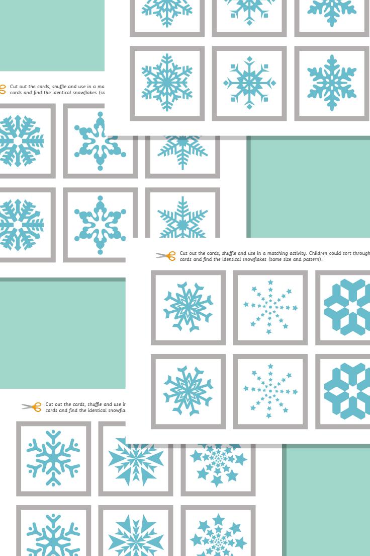 Snowflakes Matching Pairs