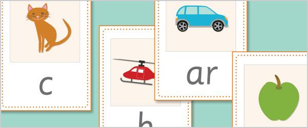 Phoneme / Grapheme Picture Flash Cards